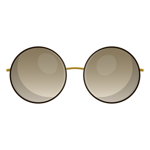 Brown round sunglasses Transparent PNG