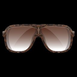 Óculos de sol escudo castanho
