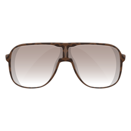 Óculos de sol escudo marrom