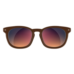 Óculos de sol wayfarer castanho