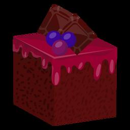 Kuchenscheibe mit Blaubeeren
