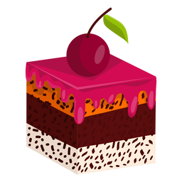 Cake slice with cherry