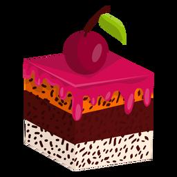 Rebanada de pastel con cereza