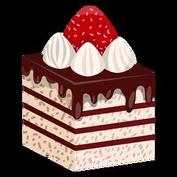 Rebanada de pastel con fresa