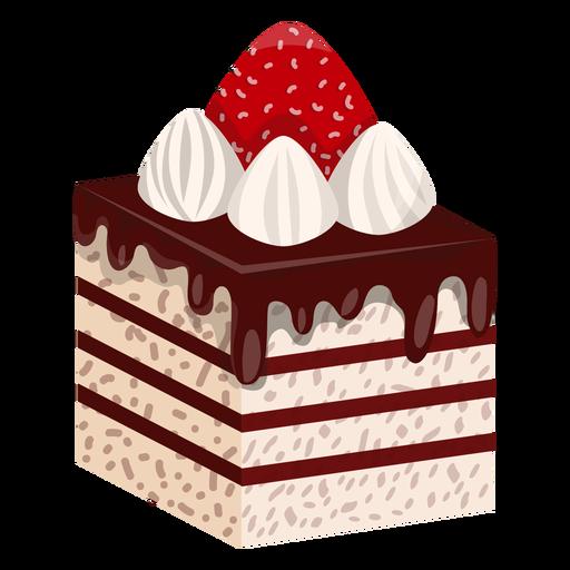 Rebanada de pastel con fresa Transparent PNG
