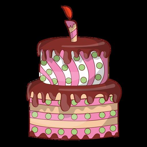 Dibujos animados de pastel de cumpleaños de chocolate ...  Dibujos animado...