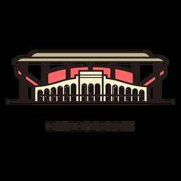 Logotipo del estadio de fútbol de Ekaterinburgo