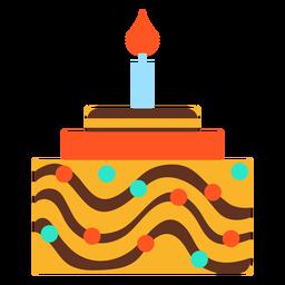 Flat birthday cake graphic