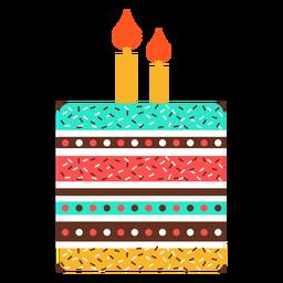 Flache Geburtstagskuchen-Symbol