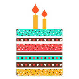 Flat birthday cake icon