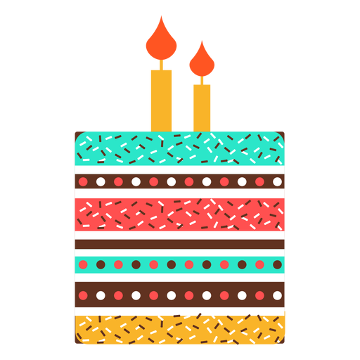 Flat Birthday Cake Icon Transparent Png Svg Vector File