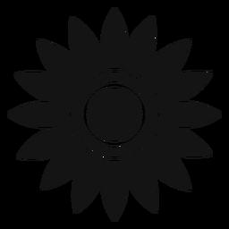 Clipart de cabeça de girassol cinza liso