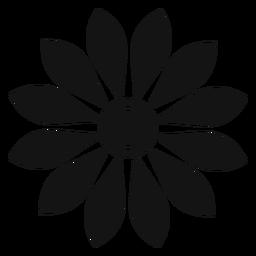 Ícone de cabeça de girassol cinzento plano