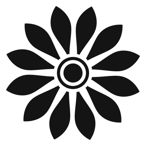 Flat grey sunflower head icon Transparent PNG