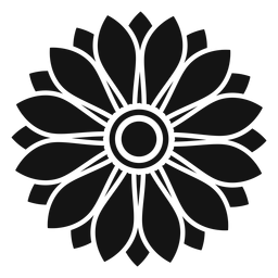Ilustración de cabeza de girasol plana gris