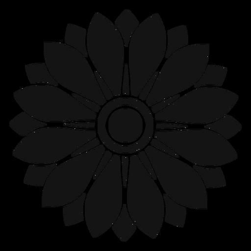 flat grey sunflower head illustration transparent png