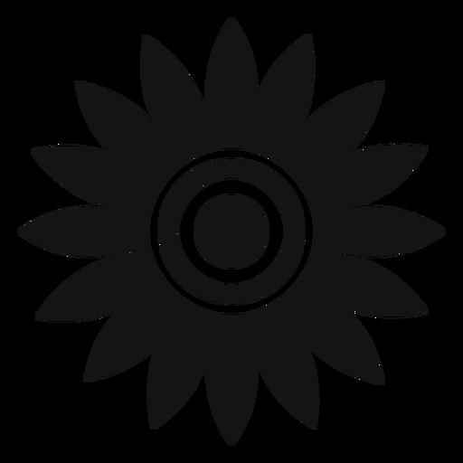 Vetor de cabeça de girassol cinzento liso Transparent PNG