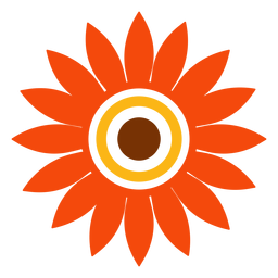 Flat isolated sunflower head vector