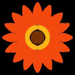 Vector de cabeza de girasol aislado plano