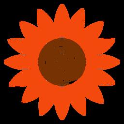 Clipart de cabeça de girassol plana