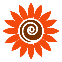 Flat sunflower head clipart