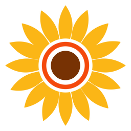 Flat sunflower head graphic