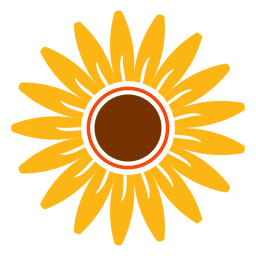 Flat sunflower head illustration