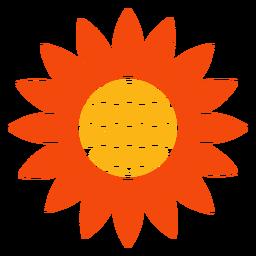 Flat sunflower head logo