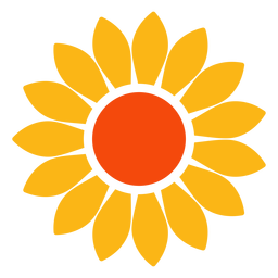 Flat sunflower head vector