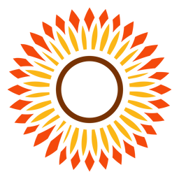 Flat sunflower head vector graphic