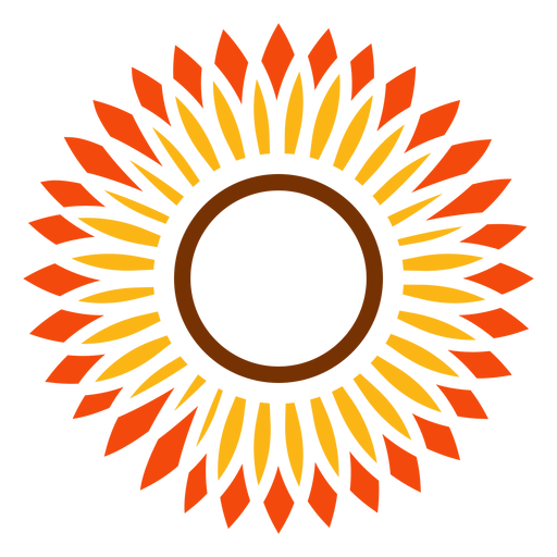 flat sunflower head vector graphic transparent png svg vector