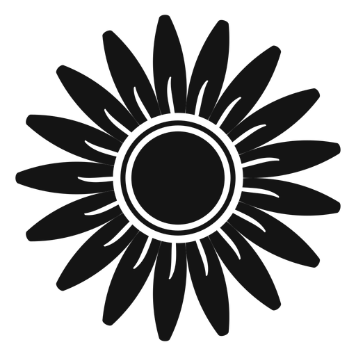 Grey Sunflower Head Clipart Transparent PNG