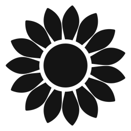 Grey sunflower head graphic