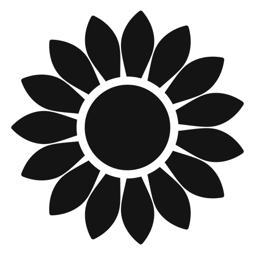 Grey sunflower head graphic - Transparent PNG & SVG vector