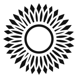 Grey sunflower head icon