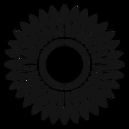 Ícone de cabeça de girassol cinza