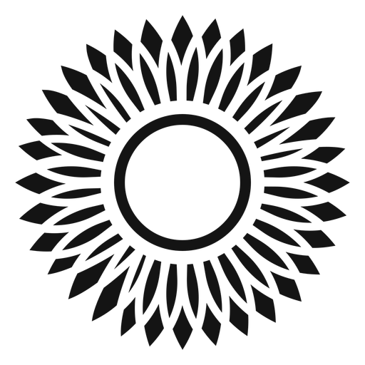 Grey sunflower head icon Transparent PNG