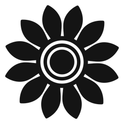 Grey sunflower head logo