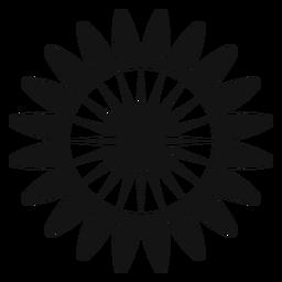 Grey sunflower head vector