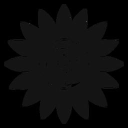 Gráfico de vector de cabeza de girasol gris