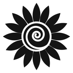 Grey sunflower head vector graphic
