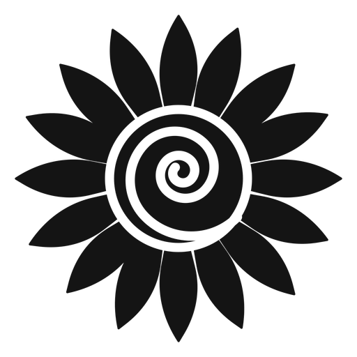 Grey sunflower head vector graphic