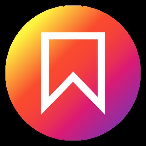 Instagram bookmark button Transparent PNG