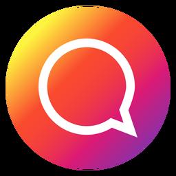 Botão Bubble do chat Instagram