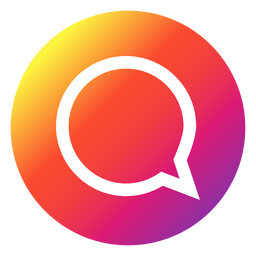 Instagram chat bubble button