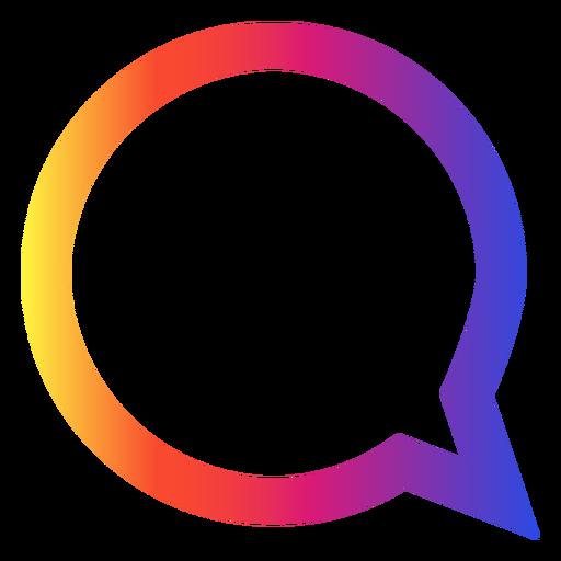 Instagram chat bubble icon Transparent PNG