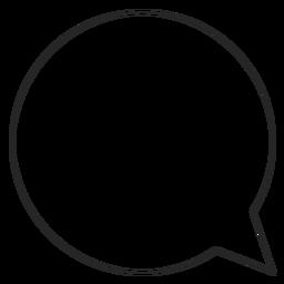 Icono de línea de burbuja de chat de Instagram