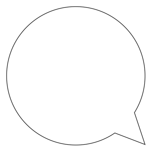 Instagram chat bubble line icon Transparent PNG