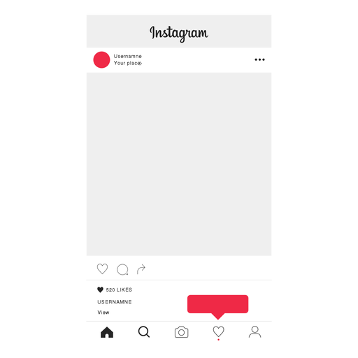 Instagram follow profile screen Transparent PNG