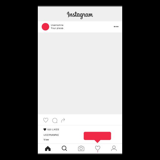 Instagram sigue la pantalla de perfil